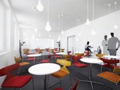 Projekt wnętrza biurowe kantyna